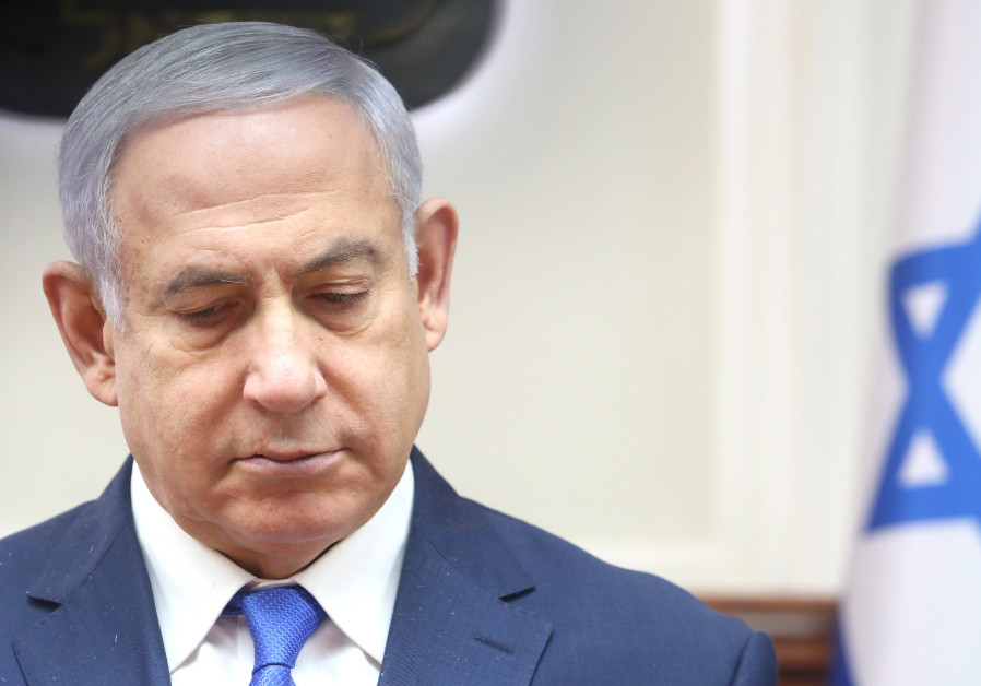 Prime Minister Benjamin Netanyahu at a weekly cabinet meeting, March 3rd, 2019