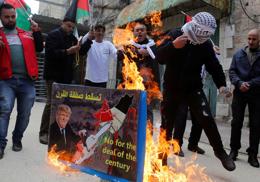 Palestinians hang Trump in effigy in protests against Bahrain summit - report