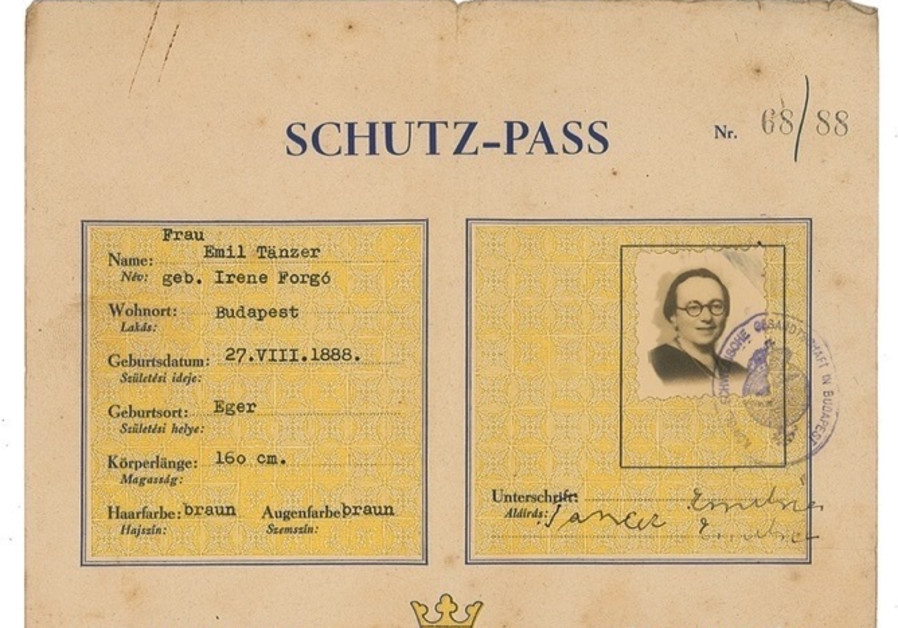 A 'Schutz-pass' issued by Raoul Wallenberg in 1944