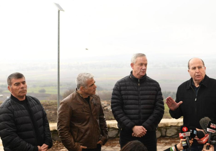Blue and White leaders vow to keep Golan