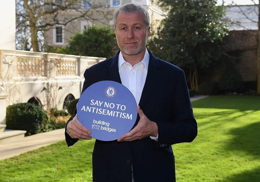 """Chelsea FC owner Roman Abramovich promoting """"Say No to Antisemitism"""""""
