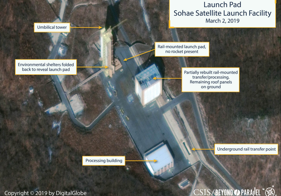 The Sohae Satellite Launching Station launch pad features what researchers of Beyond Parallel
