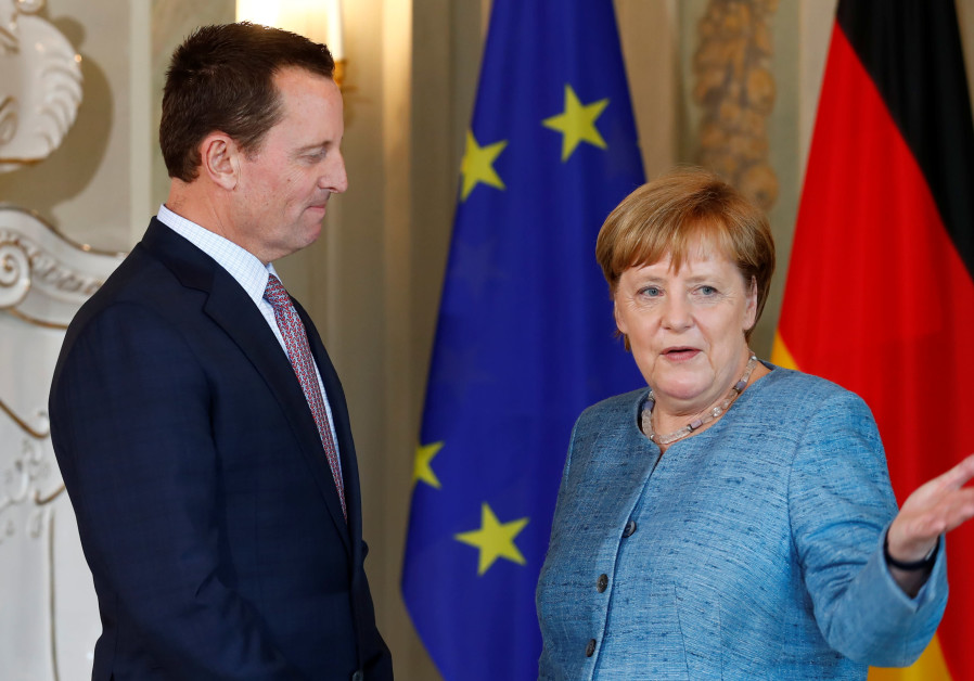 German Chancellor Angela Merkel receives the ambassador of U.S. to Germany, Richard Grenell
