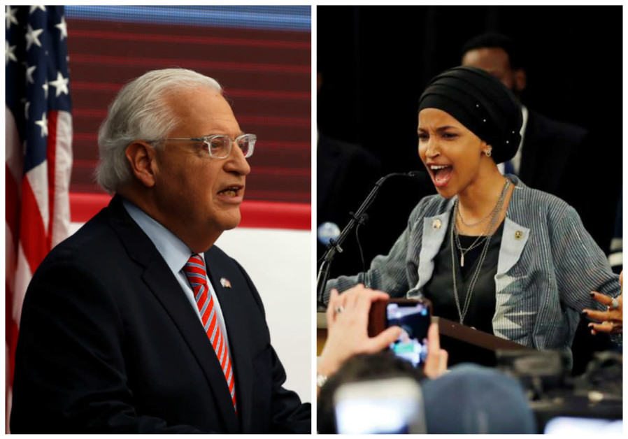 David Friedman (L) and Ilhan Omar (R)