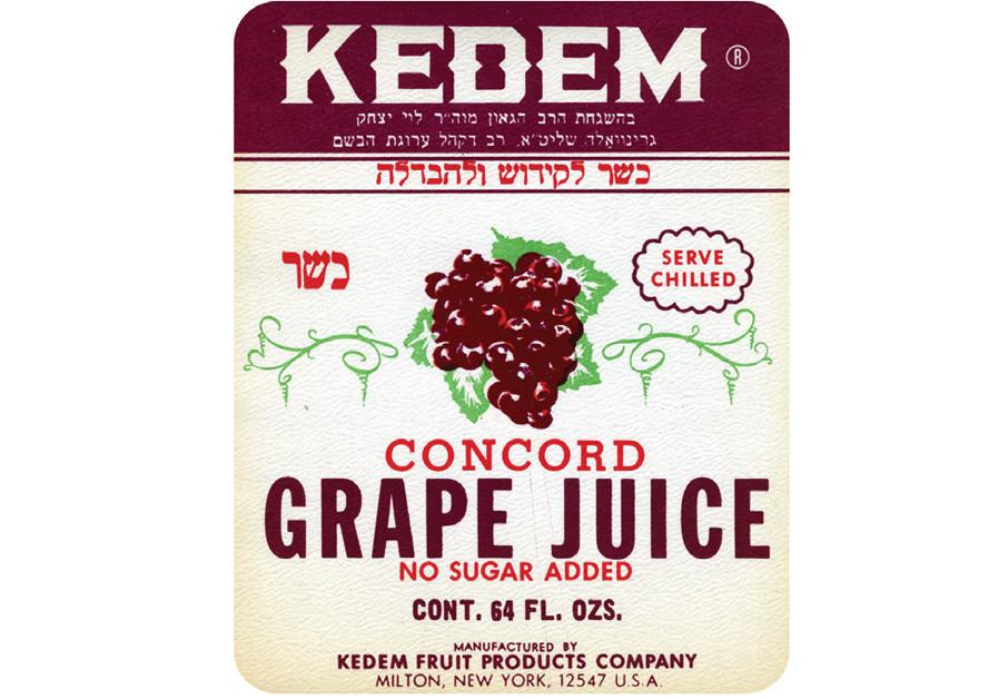 AN ORIGINAL Kedem label (Courtesy)