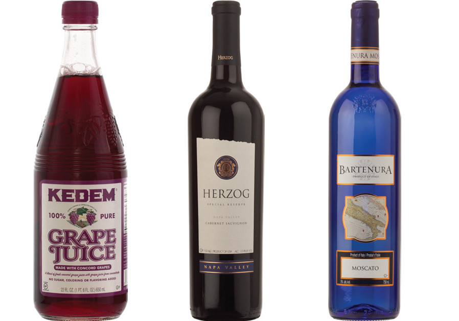 (FROM LEFT) Kedem Grape Juice, an iconic brand in America; Herzog Wine Cellars in California is owned by the Herzog family; Royal Wine's Bartenura Moscato is a global bestseller (Courtesy)
