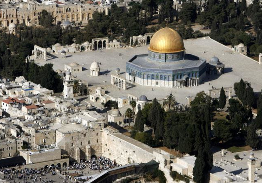 Will Jerusalem be divided? n aerial view shows the Dome of the Rock and the Western Wall