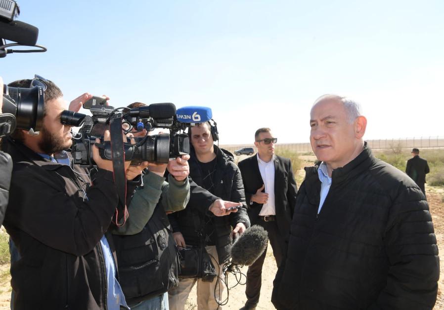 Prime Minister Benjamin Netanyahu on the Sinai border, March 7th, 2019
