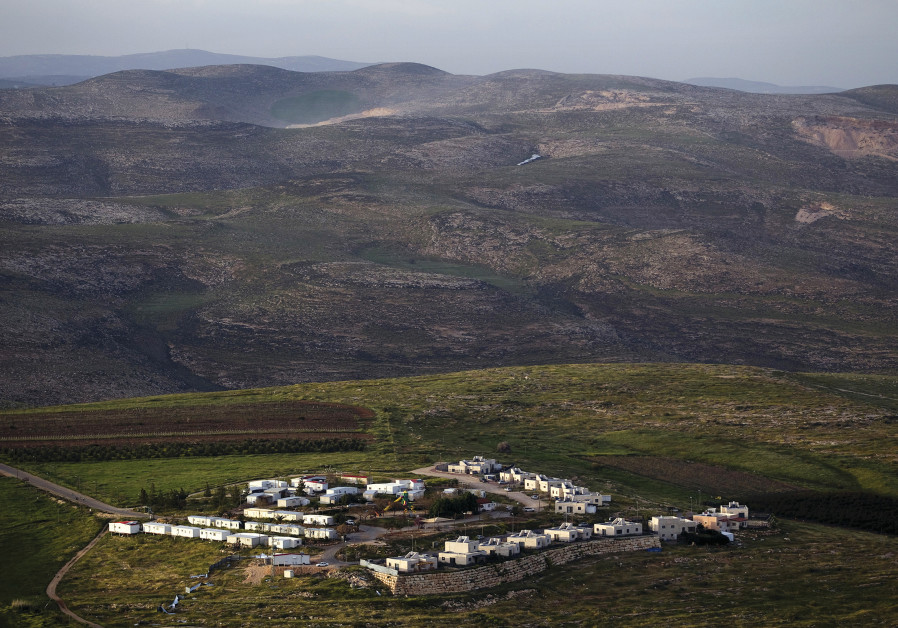 THE JEWISH community of Mitzpe Kramim east of the West Bank city of Ramallah in 2015