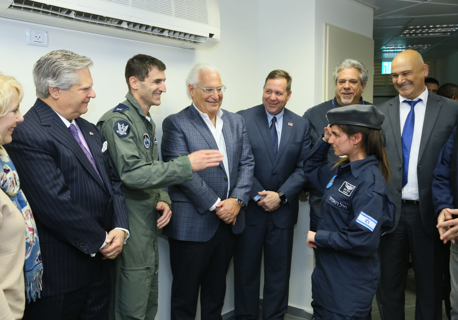 Ambassador David Friedman greets a soldier from the IDF's Special in Uniform program