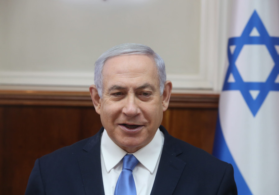 Prime Minister Benjamin Netanyahu at a weekly cabinet meeting, March 10th, 2019
