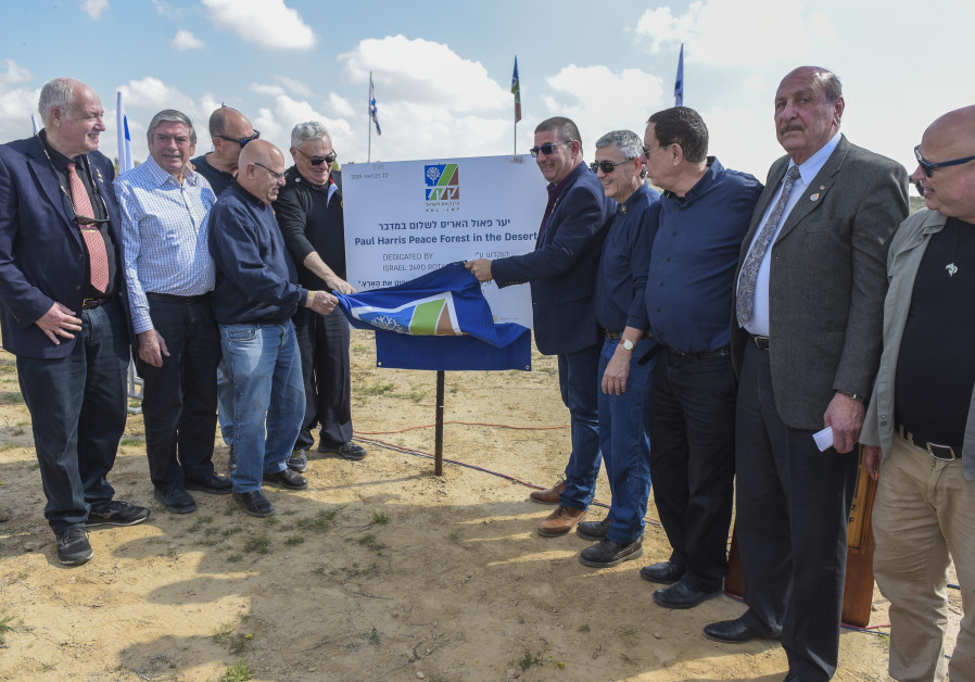Rotary Israel Plants the Paul Harris Peace Forest in the Desert