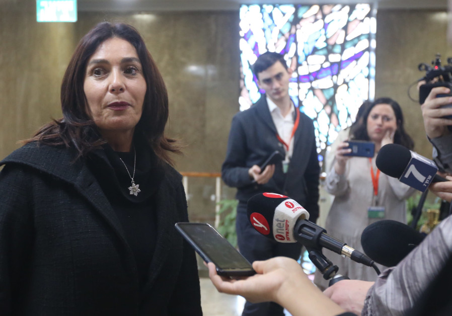 Miri Regev arrives at a weekly cabinet meeting, March 3rd, 2019