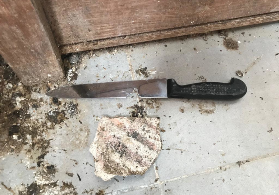 The knife used at the stabbing terror attack near Hebron