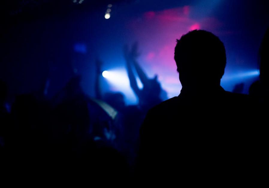 Night club silhouette.