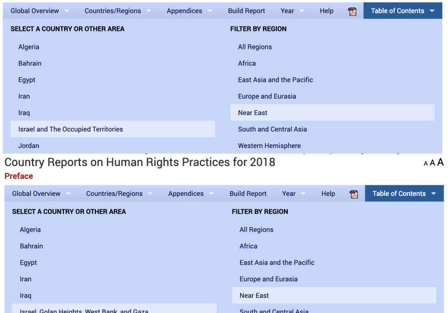 U.S. State Department Country Reports on Human Rights Practices for 2016 and 2018 (Credit: screenshot)