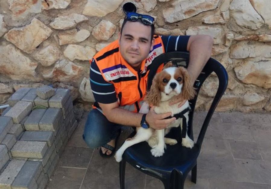 United Hatzalah's Sylvia and Max Shulman psychotrauma K-9 unit