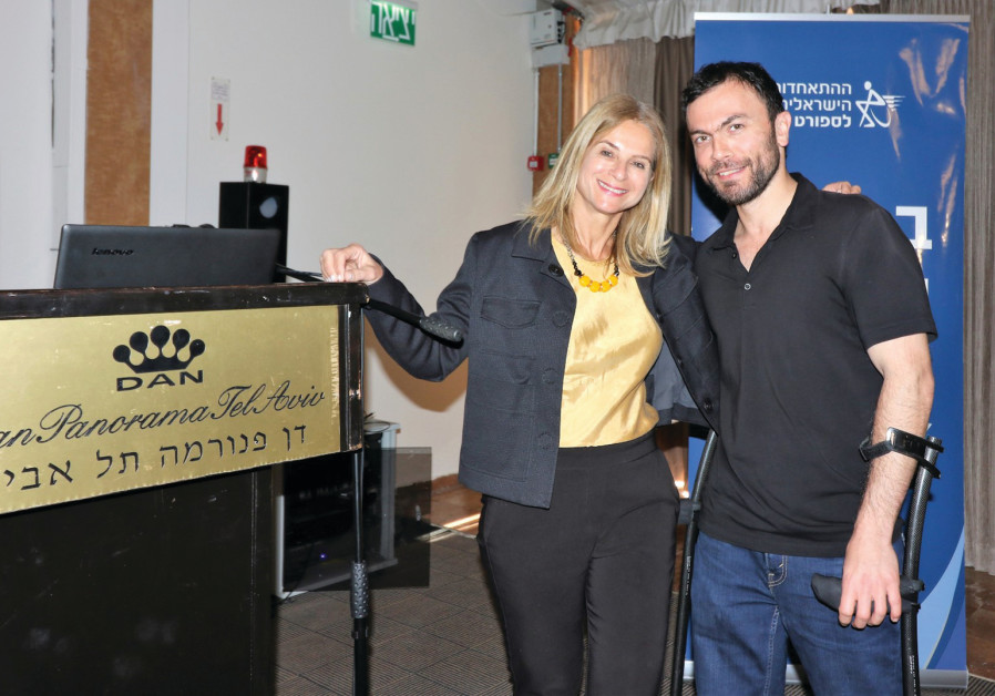 DAN HOTELS head of marketing Tali Kedar with gold medalist Noam Gershony