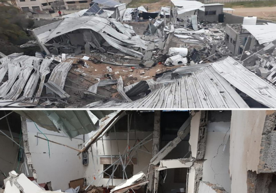 "The ""West Bank headquarters"" of the Hamas terrorist organization in the Rimal neighborhood in Gaza. (Credit: IDF Spokesperson's Unit)"
