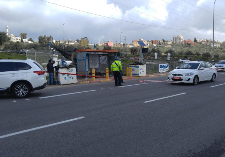 Ariel Junction after a reported terror attack, March 17th, 2019