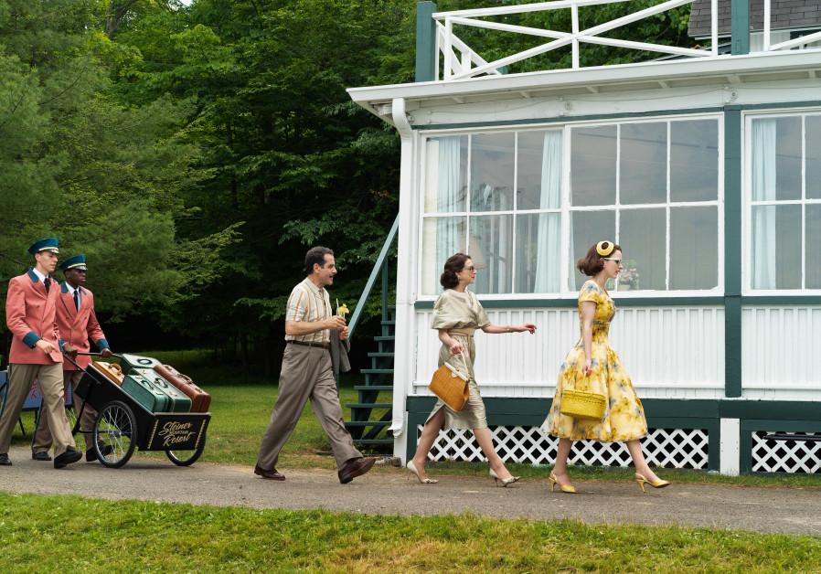 Tony Shalhoub, Marin Hinkle and Rachel Brosnahan in the Marvelous Mrs. Maisel