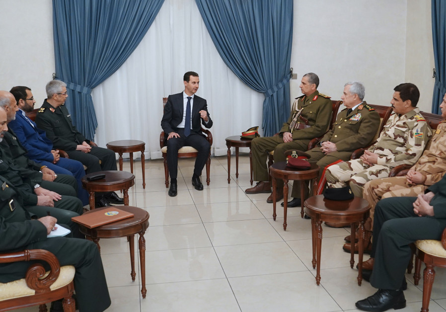 President Bashar al-Assad meeting with Iraq's Chief of Staff Othman al-Ghanimi