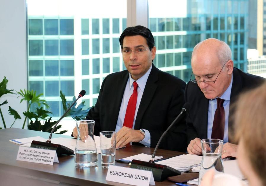 Ambassador Danon and 28 European Union UN ambassadors discuss anti-Semitism