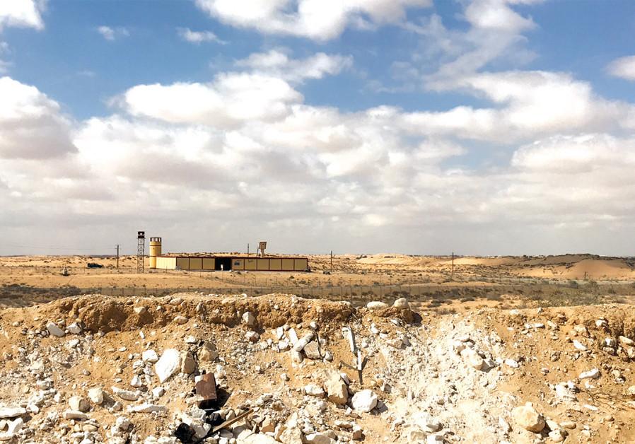AN EGYPTIAN border security post. (Seth J. Frantzman)