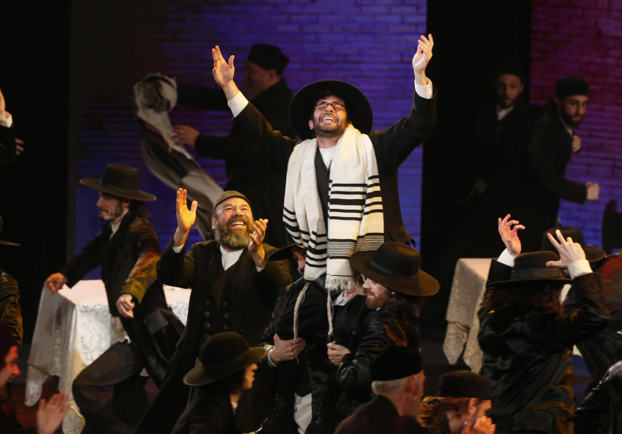 "The cast of ""Fiddler on the Roof"" performs during the American Theatre Wing's 70th annual Tony Award"