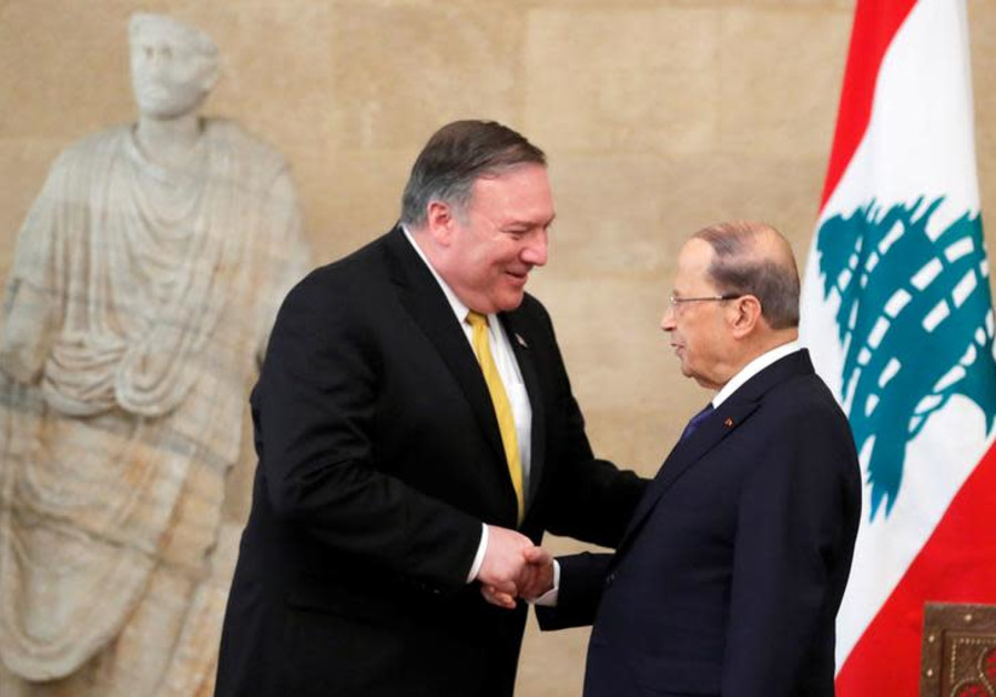 U.S. Secretary of State Mike Pompeo meets with Lebanon's President Michel Aoun