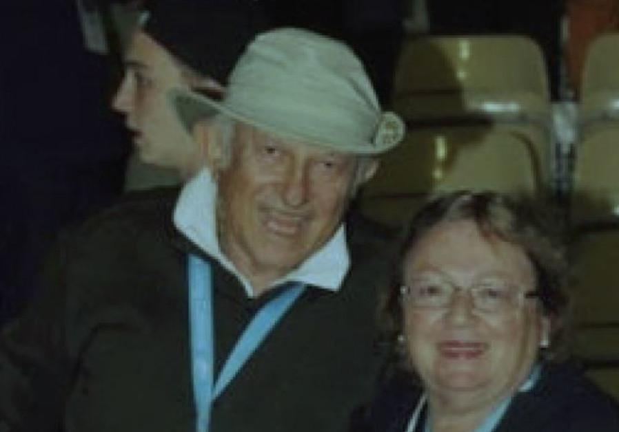 NATE LEIPCIGER and Anita Ekstein celebrate Yom Ha'atzmaut in Israel on the March of the Living / Courtesy Anita Ekstein