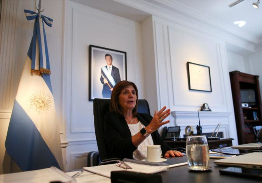 Argentina's Security Minister Patricia Bullrich