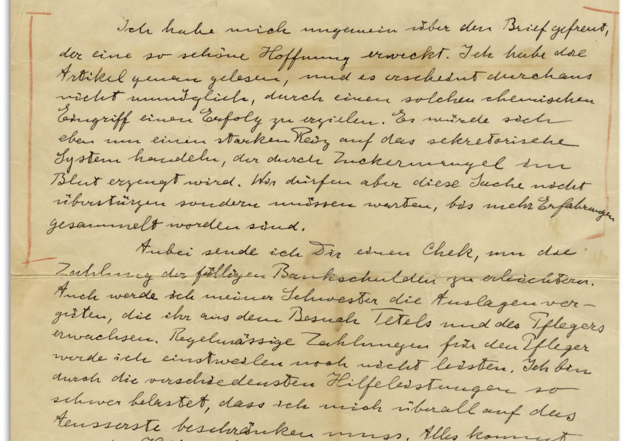 A letter from Albert Einstein to his first wife, Mileva Maric