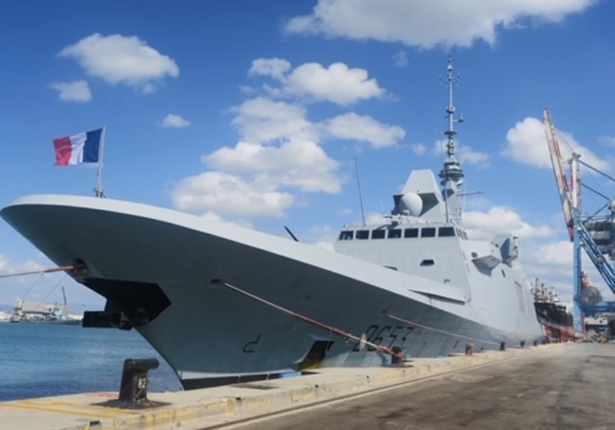 One of France's most advanced warships docks in Haifa