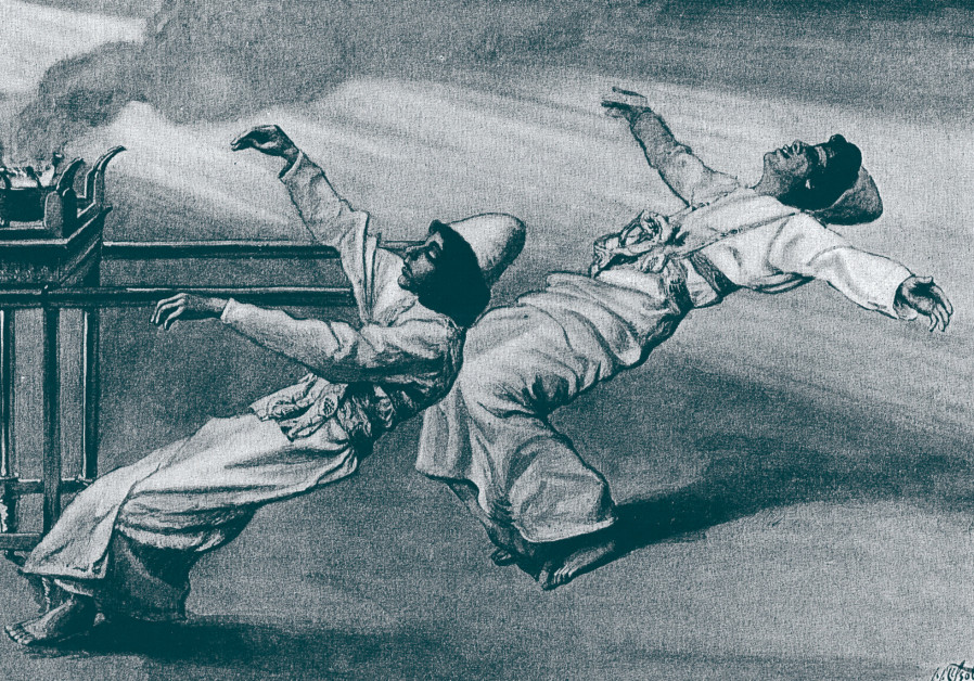 'THE TWO Priests are Destroyed,' James Tissot, 1896-1900, Jewish Museum New York City.