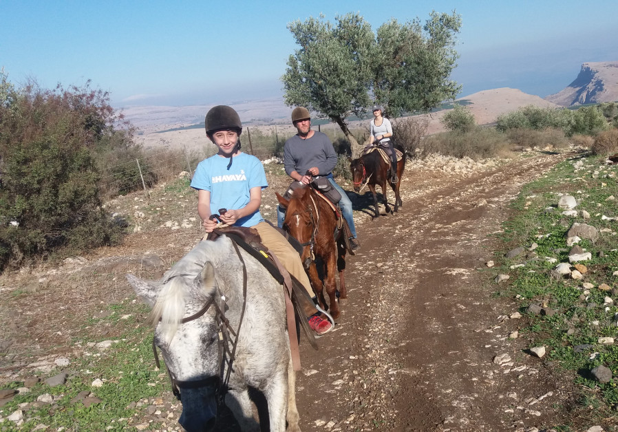 Family ride in the eastern Galilee / Courtesy
