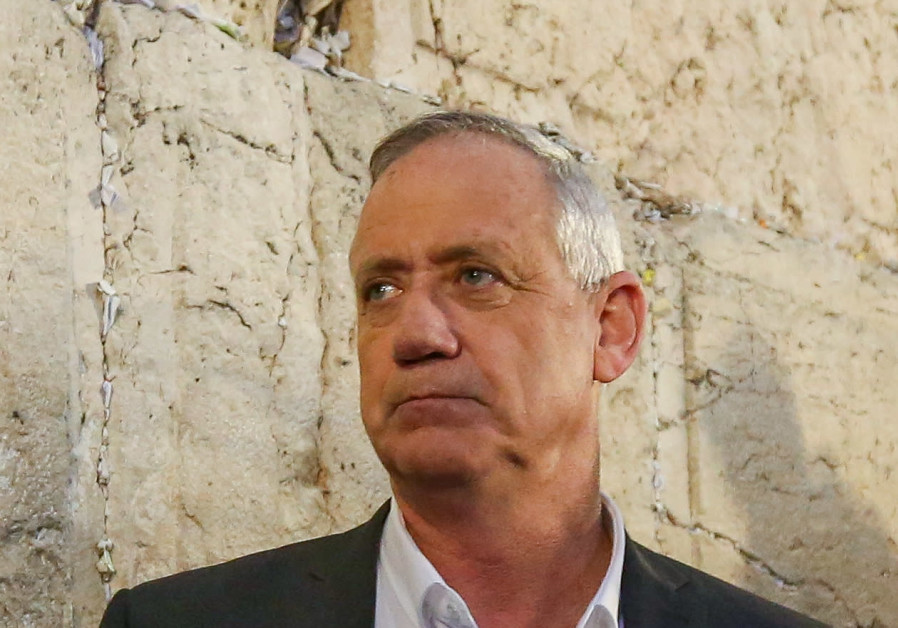 Benny Gantz, chairman of the Blue and White party, at the Western Wall, March 28th, 2019