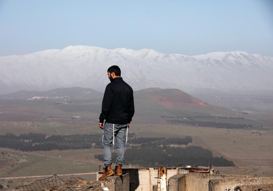 OVERLOOKING THE Golan Heights.