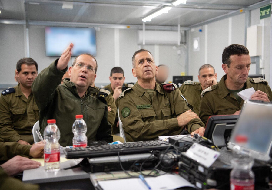 IDF Chief of Staff Aviv Kochavi preparing for escalations along the Gaza border, 2019.
