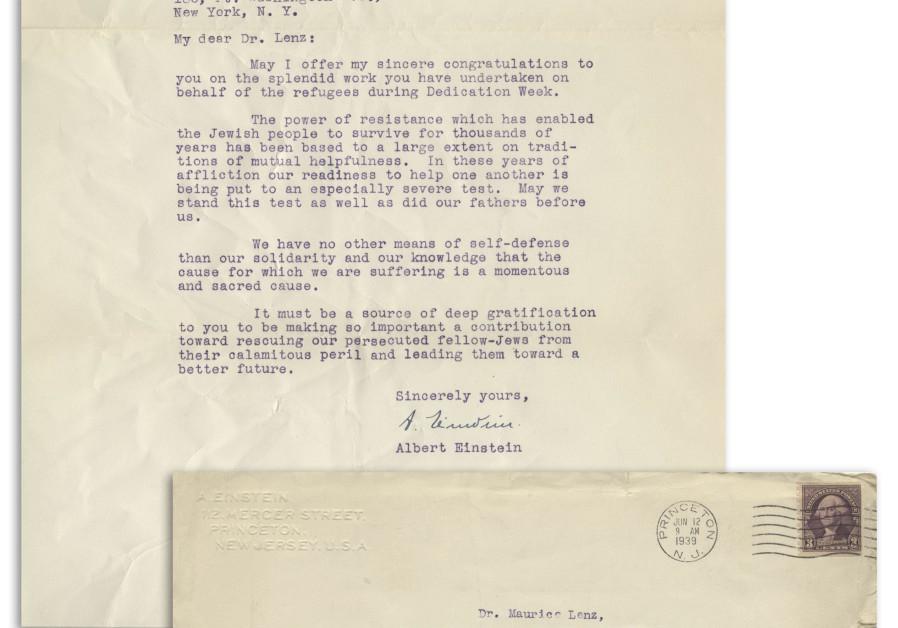 Putting Power Of Self Knowledge To Work >> Einstein Letter On Jewish Solidarity Garners Top Bid Diaspora
