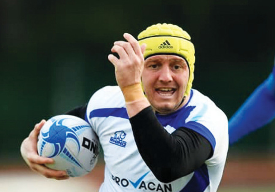 ISRAEL RUGBY team member Vitali Primak sports his Provacan jersey during a recent competition