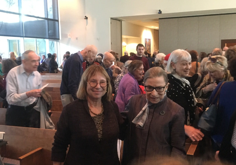 Supreme Court Justice Ruth Bader Ginsburg and Fania Oz-Salzberger on Sunday