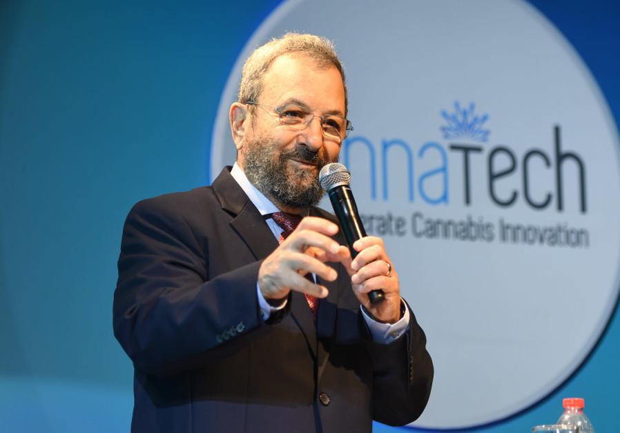 Former prime minister Ehud Barak spoke at the two-day CannaTech Tel Aviv conference on April 1st, 20