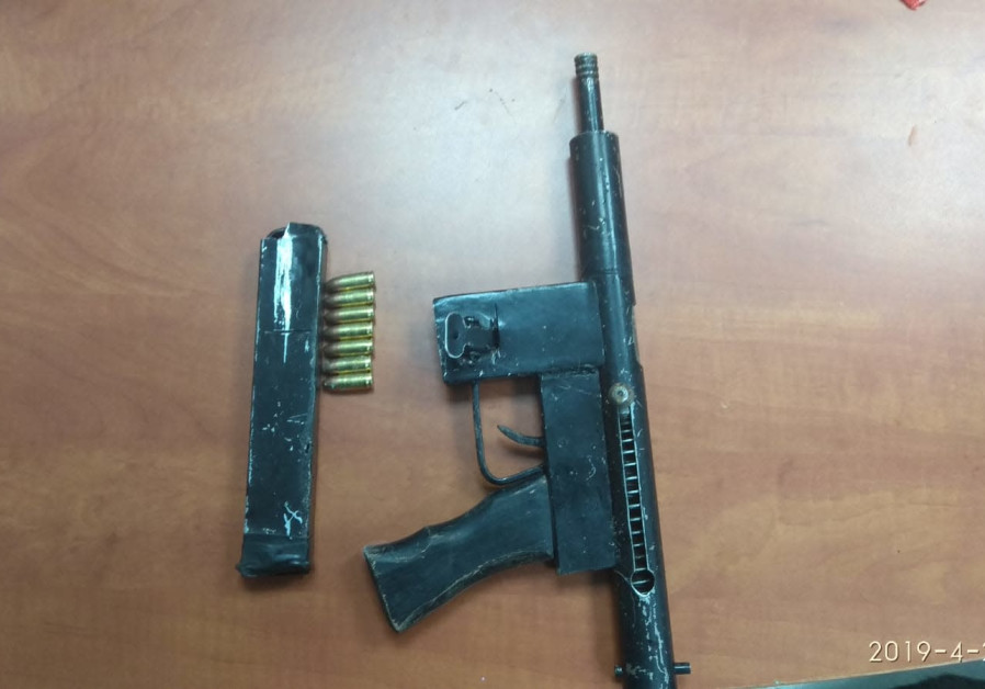 The homemade Carlo-style gun discovered by IDF forces on April 2. (IDF)