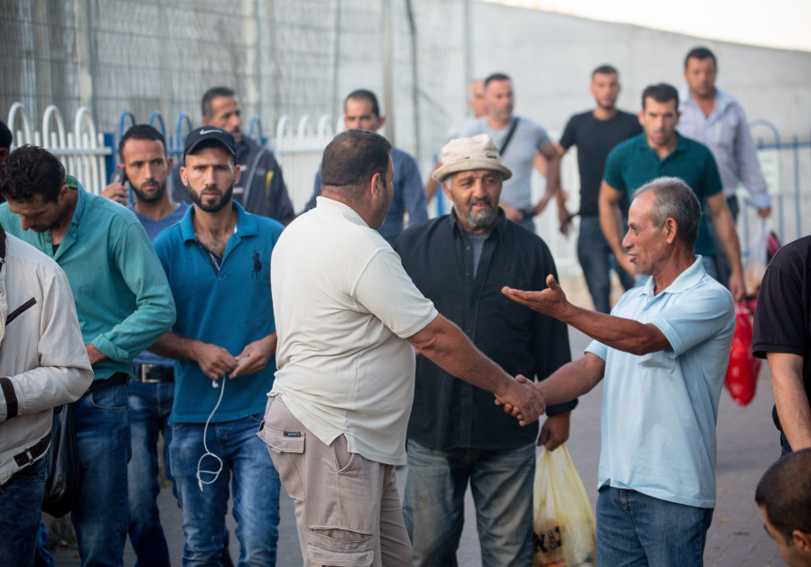 Palestinians socialize at Checkpoint 300, located in Bethlehem near Rachel's Tomb (Courtesy of Laura Ben-David)