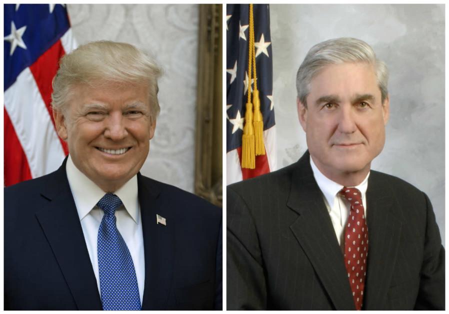 Donald Trump (L) and Robert Mueller (R)