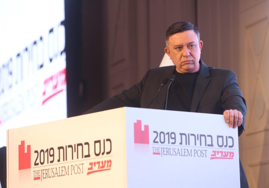 Avi Gabbay at Jerusalem Post Election Conference on April 3, 2019