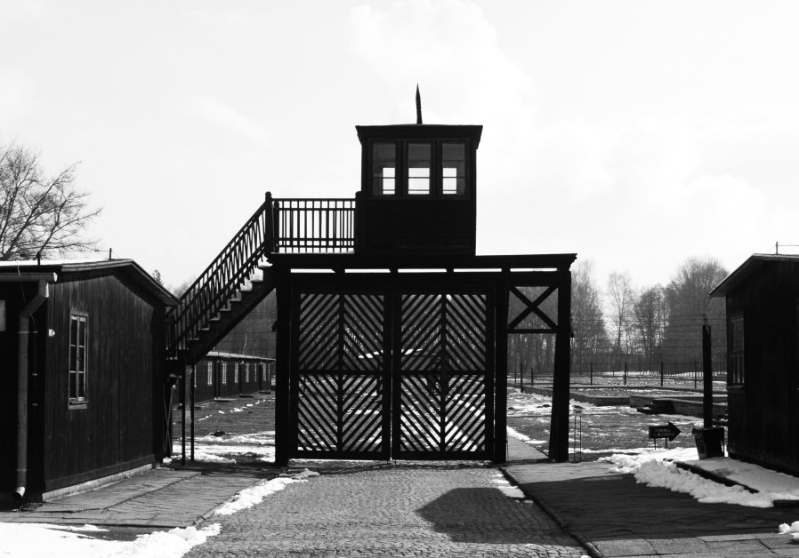 The gate at the Stutthof concentration camp