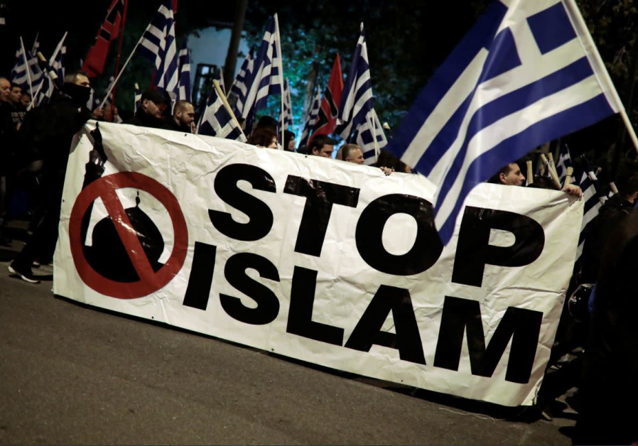 Supporters of Greece's far -Right Golden Dawn party