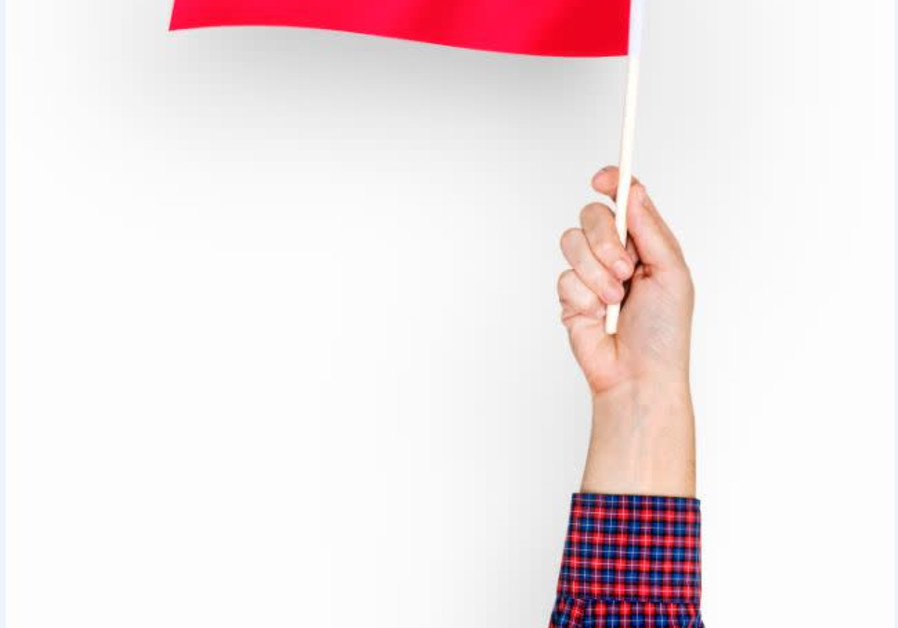 Waving Polish flag (Freepik.com)